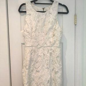 ASTR white floral dress
